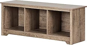 South Shore Furniture 12315 Vito Storage Bench Weathered Oak