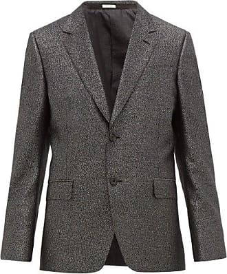 Alexander McQueen Alexander Mcqueen - Single-breasted Wool-blend Suit Jacket - Mens - Black