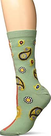 Ozone Womens Paisley Persona Sock-Mint/Scarlet, OSFM