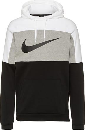 Nike Dri-FIT Hoodie Herren in white-dk grey heather-black-black, Größe XXL