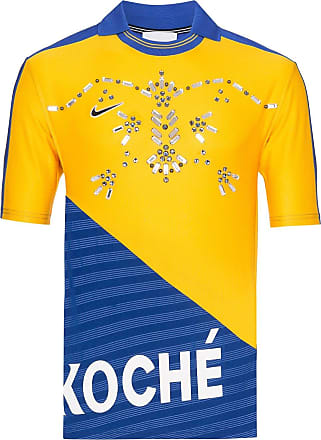 Koché embellished football T-shirt - Azul