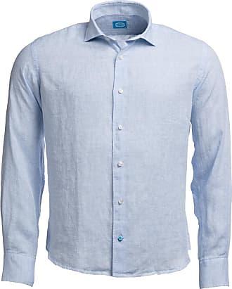 Panareha Camicia di lino FIJI blu chiaro