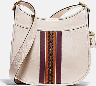 Coach Emery Crossbody With Varsity Stripe in White