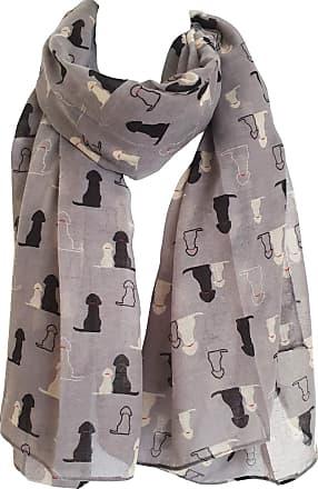 GlamLondon Retriever Labrador Dog Scarf Womens Fashion Large Lightweight Wrap Scarves (Grey)