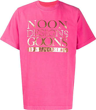 Noon Goons Camiseta com estampa de logo metálico - Rosa