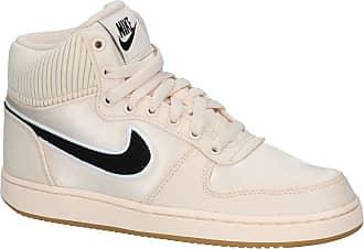 huge discount feb0c 20298 Nike Beige Nike Ebernon Hoge Sneakers Satijnlook