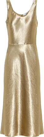 Vince Hammered-satin dress
