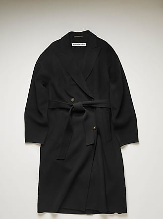 Acne Studios FN-WN-OUTW000385 Black Belted wool coat