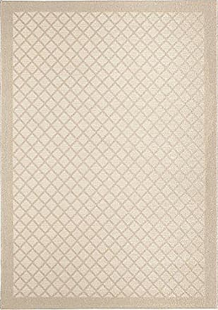 Orian Rugs Jersey Home Indoor/Outdoor Fusion Trellis Area Rug, 51 x 76, Ivory