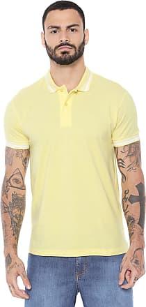 db33825e6 Colcci Camisa Polo Colcci Reta Listras Amarela