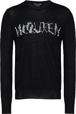 Alexander McQueen dancing skeleton crew-neck sweater - Black