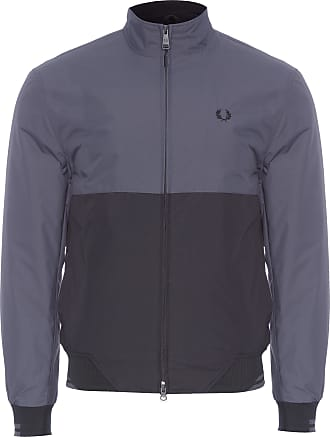 Fred Perry JAQUETA MASCULINA COLOUR BLOCK SPORTS - CINZA