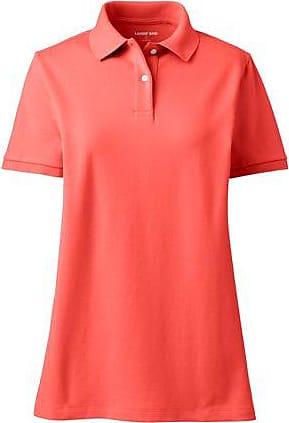 Lands End Piqué-Poloshirt in großen Größen - Orange - 52-54 von Lands End