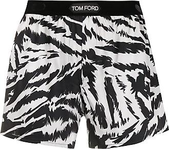 Tom Ford Short com estampa de zebra - Branco