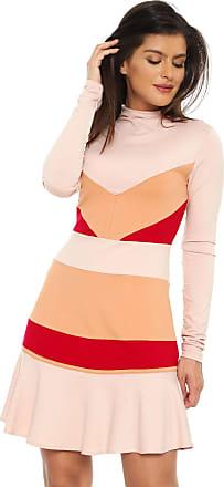 Lez a Lez Vestido Lez a Lez Curto Color Block Rosa