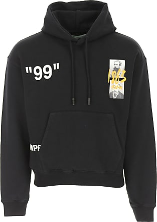Off-white Sweatshirt for Men On Sale, Black, Cotton, 2017, M