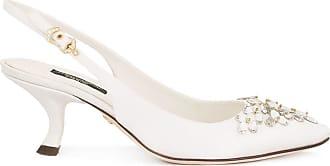Dolce & Gabbana Slingback-Pumps mit Strass - Weiß