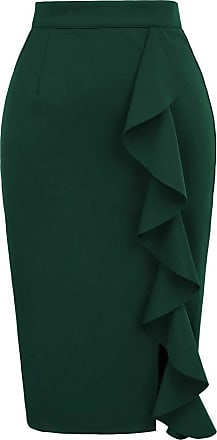 Grace Karin Sexy Ladies Spring Summer High Waist Bodycon Skirt Casual Work Office Womens Pencil Skirt Green M