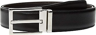 Salvatore Ferragamo Square Buckle Belt - 679301 (Black/Hickory) Mens Belts