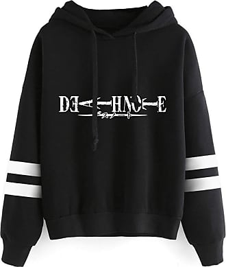 Haililais Death Note Pullover Pullover Sweatshirt Fashion Sweater Outerwear Adult Casual Sports Warm Wild Long Sleeve Men and Women Unisex (Color : Black02, Siz
