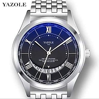 Yazole Relógio Masculino de Luxo Yazole D410 Pulseira de Aço e Couro (2)