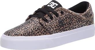DC Womens Trase TX SE Skate Shoe, Black/Leopard, 3 UK