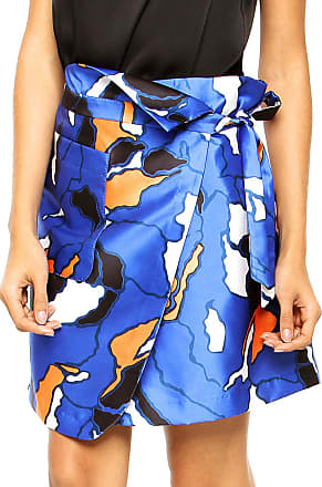 Finery Saia Finery London Elmore Camofleur Print Wrap Azul