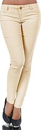 H982 Damen Hose Treggings Leggings Stoffhose Freitzeithose Röhrenhose Leggins