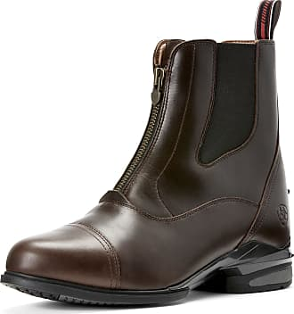 Ariat Mens Devon Nitro Paddock Boots in Waxed Chocolate Leather, EE Wide Width, Size 10.5, by Ariat