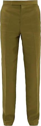 Haider Ackermann Rayon-blend Twill Slim-leg Trousers - Mens - Dark Khaki