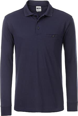 2Store24 Mens Workwear Polo Pocket Longsleeve in Navy Size: 3XL