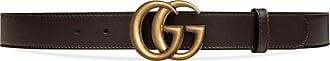 Gucci Cintura in pelle con fibbia Doppia G