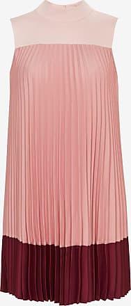 Ted Baker Hochgeschlossenes Plissee-kleid Mit Ombré-effekt
