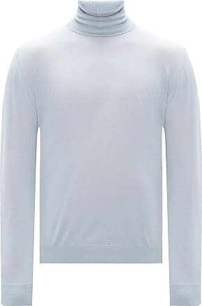 Lanvin Turtleneck Sweater Mens Light Blue