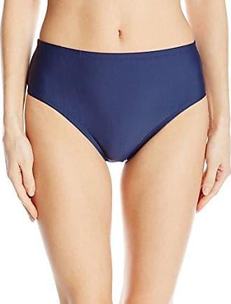 Ellen Tracy Womens Solid Natural Waist Classic Bikini Bottom, Navy, 10