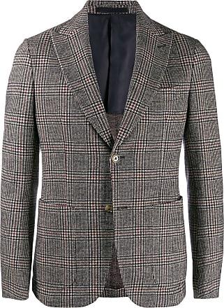 Eleventy plaid fitted blazer - Marrom