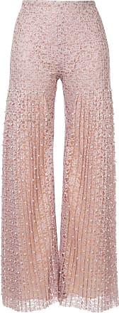Huishan Zhang pearl embellished lace trousers - Neutro