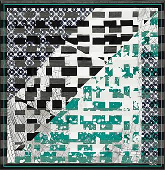 Roeckl Broken Check 53x53 - black/klee - 53x53