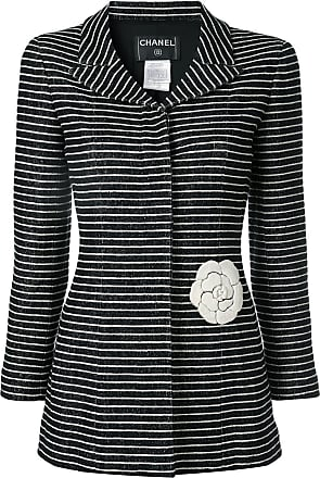 Chanel striped blazer - Black