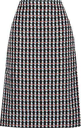 22a354c2c Marni Marni Woman Printed Cotton And Silk-blend Canvas Skirt Black Size 40