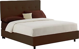 Skyline Furniture 680 Series Low Profile Bed Premier Oatmeal, Size: Queen - SKY061-47