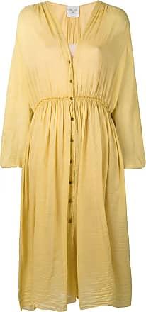 Forte_Forte buttoned up dress - Amarelo