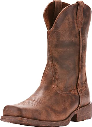 Ariat Mens Rambler Western Boots in Antiqued Grey Leather, D Medium Width, Size 41.5, by Ariat