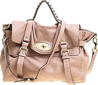 Mulberry Beige Leather Oversized Alexa Satchel 6bbd9db6b503c