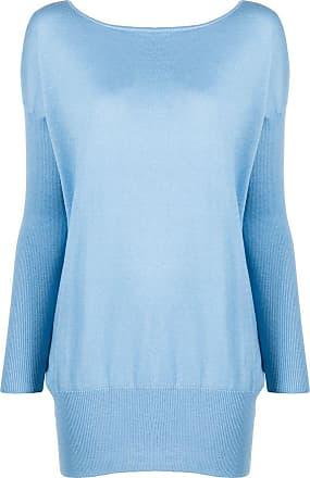 Snobby Sheep Suéter oversized com gola redonda - Azul