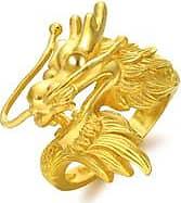Chow Sang Sang 999.9 Gold Dragon Ring