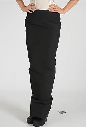 Rick Owens BLACK SOFT PILLAR LONG SKIRT size 42
