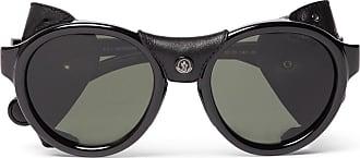 f572dcebc6 Moncler Round-frame Acetate Polarised Sunglasses - Black