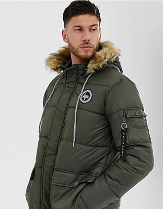 Hype explorer hooded parka jacket-Green
