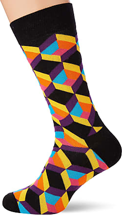 Happy Socks Mens Optiq Square Sock, Multicolour (Multicolour 935), 7-10 (Size:41-46)